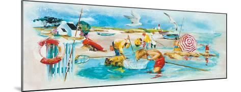 Plage et Pêche-Lizie-Mounted Art Print