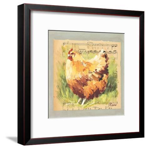 Poule Rousse-Pascal Cessou-Framed Art Print