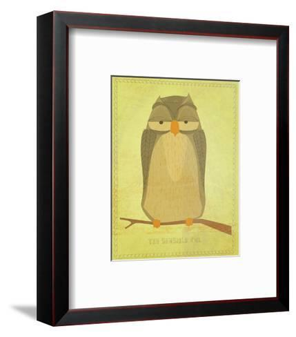 The Sensible Owl-John Golden-Framed Art Print