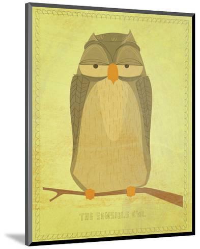 The Sensible Owl-John Golden-Mounted Art Print