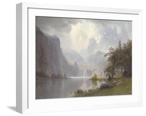 In the Mountains, c.1867-Albert Bierstadt-Framed Art Print