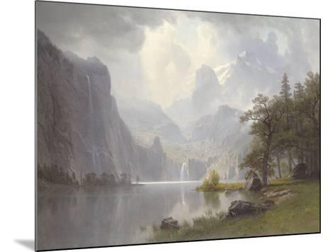 In the Mountains, c.1867-Albert Bierstadt-Mounted Art Print