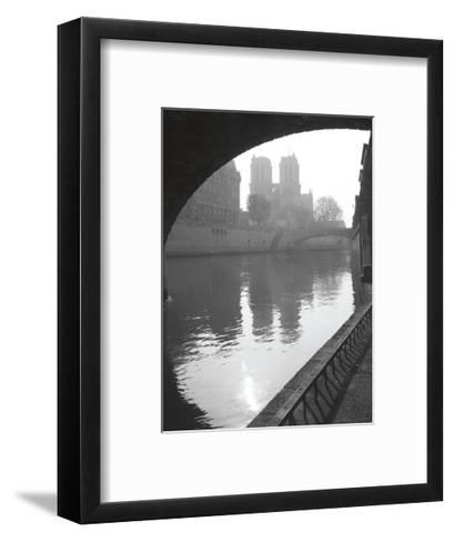 Notre Dame Reflection-Christopher Bliss-Framed Art Print