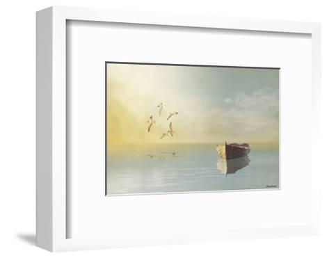 Soft Sunrise on the Beach, no. 11-Carlos Casamayor-Framed Art Print