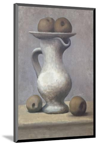 Still Life with Pitcher and Apple-Pablo Picasso-Mounted Art Print