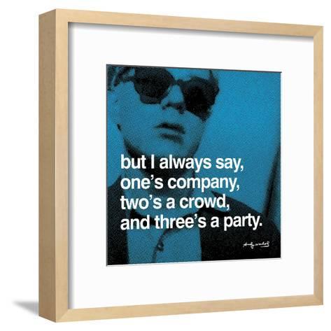 Three's a Party--Framed Art Print