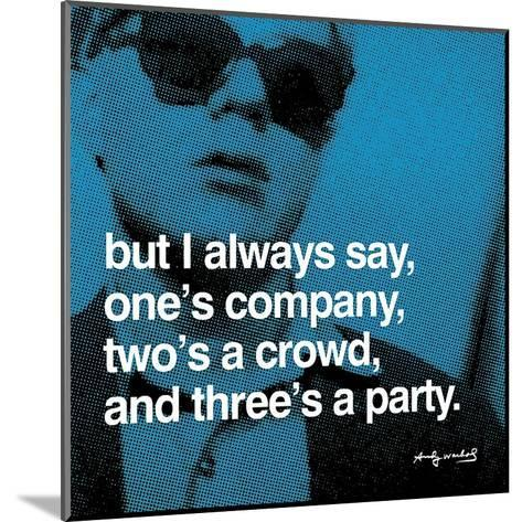 Three's a Party--Mounted Art Print