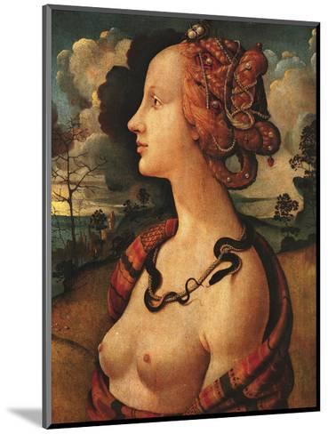 Portrait of Simonetta Vespucci, c. 1480-Piero di Cosimo-Mounted Art Print