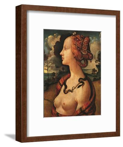 Portrait of Simonetta Vespucci, c. 1480-Piero di Cosimo-Framed Art Print