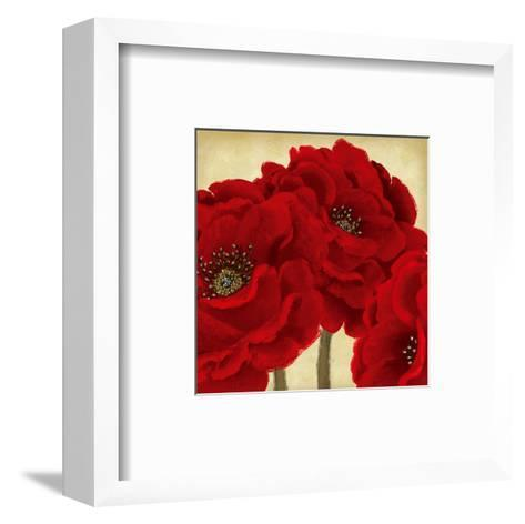 Red Peony II-Linda Wood-Framed Art Print