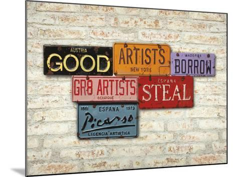 Picasso, Steal-Greg Constantine-Mounted Art Print