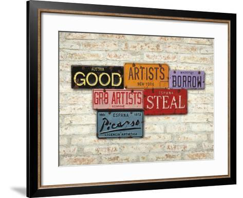 Picasso, Steal-Greg Constantine-Framed Art Print