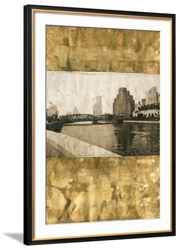Oxidized Gold Cityscape I-Tang Ling-Framed Art Print