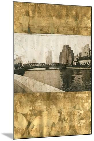 Oxidized Gold Cityscape I-Tang Ling-Mounted Art Print