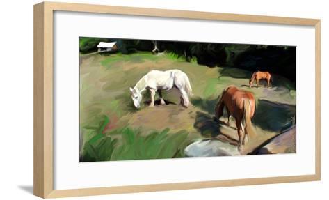 Guilford Horses I-Robert Mcclintock-Framed Art Print