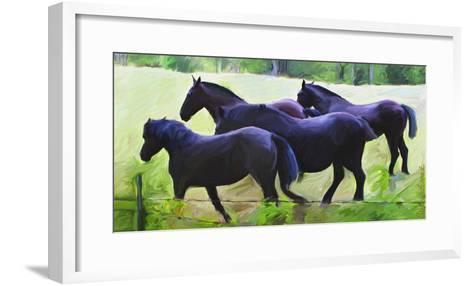 Guilford Horses II-Robert Mcclintock-Framed Art Print