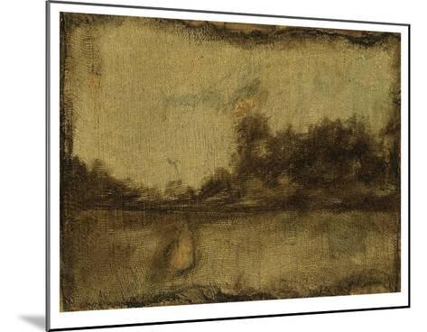 Gilded Landscape II-Jennifer Goldberger-Mounted Limited Edition