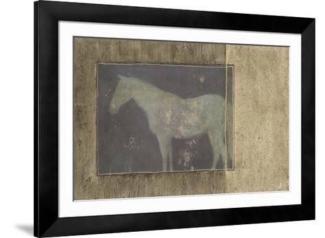 Horse in Textured Frame II--Framed Art Print