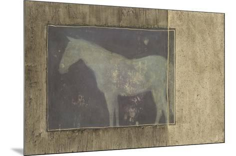 Horse in Textured Frame II--Mounted Art Print