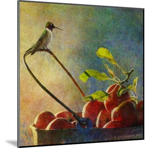 Apples and Hummer-Chris Vest-Mounted Art Print