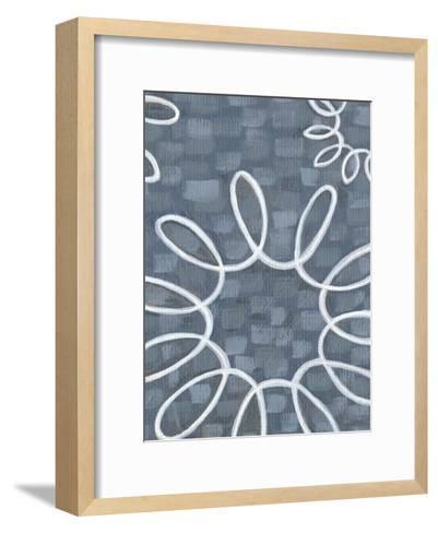 Denim and Doilies II-Karen Deans-Framed Art Print
