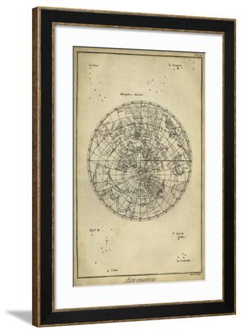 Antique Astronomy Chart II-Daniel Diderot-Framed Art Print