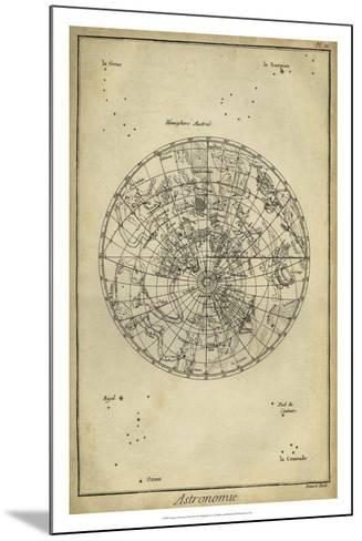 Antique Astronomy Chart II-Daniel Diderot-Mounted Giclee Print