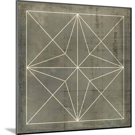 Geometric Blueprint I--Mounted Giclee Print