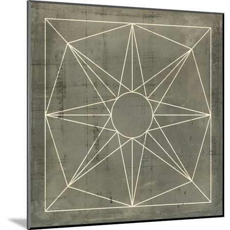 Geometric Blueprint VII--Mounted Giclee Print
