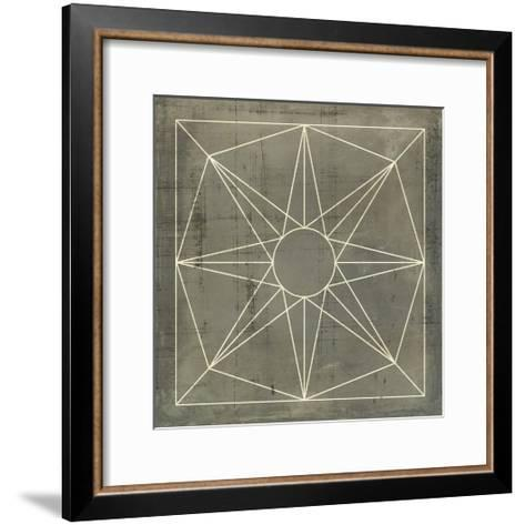 Geometric Blueprint VII--Framed Art Print