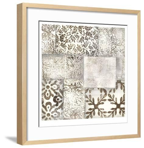 Neutral Patterned Patchwork II-Jennifer Goldberger-Framed Art Print