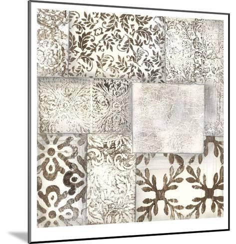 Neutral Patterned Patchwork II-Jennifer Goldberger-Mounted Limited Edition