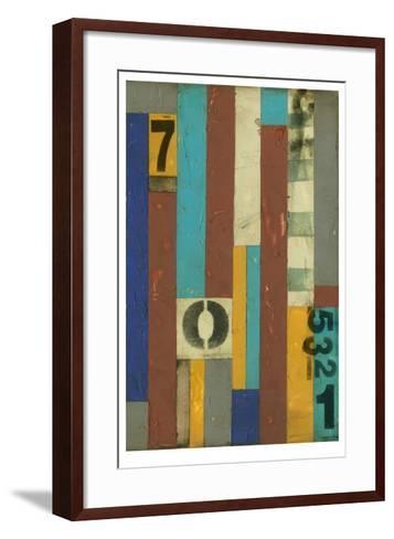 Primary Numbers II-Jennifer Goldberger-Framed Art Print