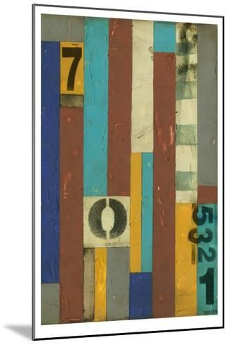 Primary Numbers II-Jennifer Goldberger-Mounted Limited Edition