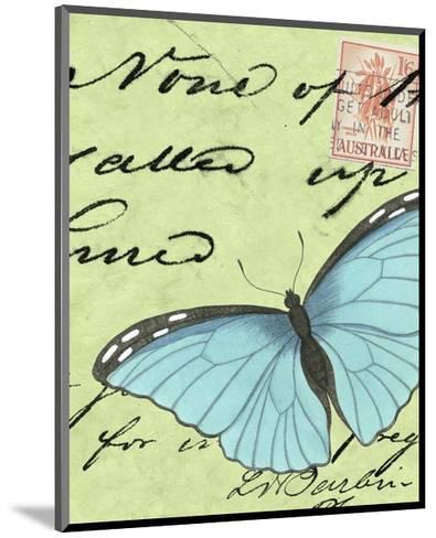Le Papillon Script III--Mounted Art Print