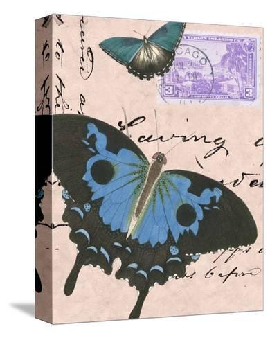 Le Papillon Script V--Stretched Canvas Print