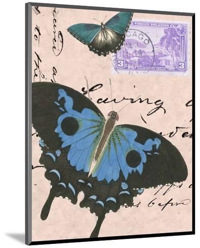 Le Papillon Script V--Mounted Art Print