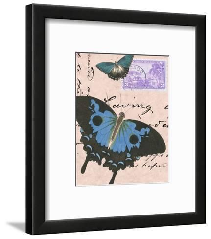 Le Papillon Script V--Framed Art Print