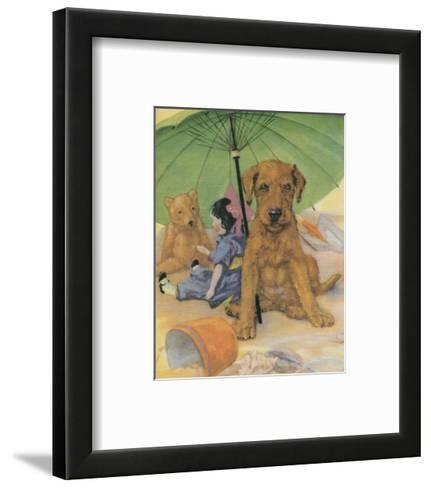 Terrier Trouble I--Framed Art Print
