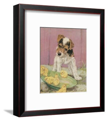 Terrier Trouble II--Framed Art Print