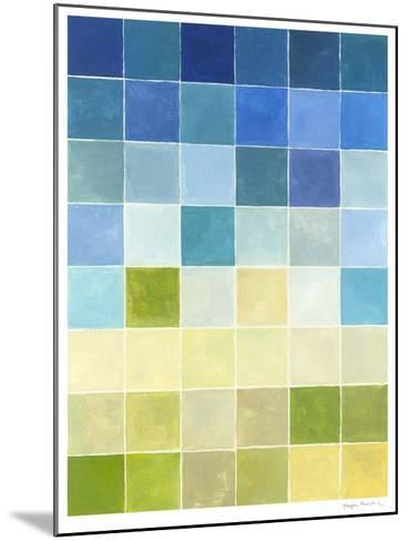 Pixilated Landscape II-Megan Meagher-Mounted Limited Edition