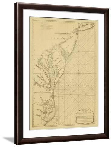 Coastal Chart of the East Coast-Captain N^ Holland-Framed Art Print