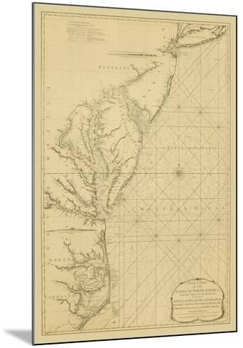 Coastal Chart of the East Coast-Captain N^ Holland-Mounted Giclee Print
