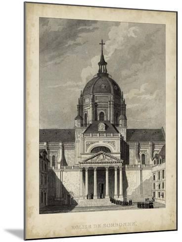 Eglise de Sorbonne-A^ Pugin-Mounted Giclee Print