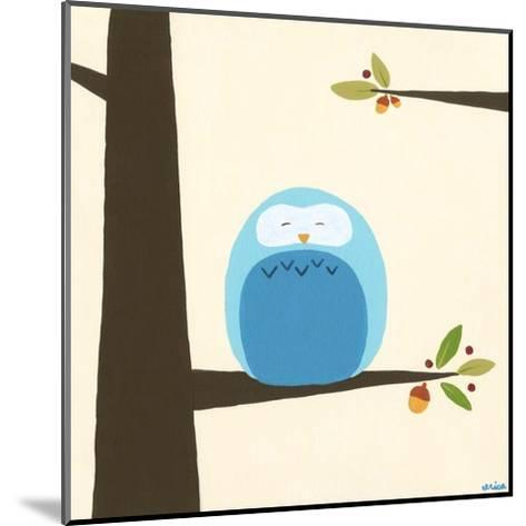 Orchard Owls III-Erica J^ Vess-Mounted Art Print