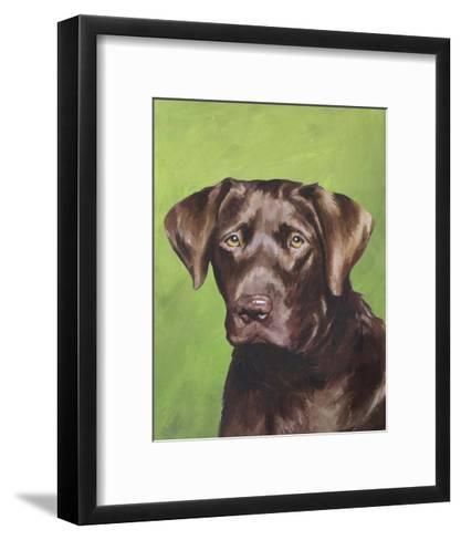 Dog Portrait, Chocolate-Jill Sands-Framed Art Print