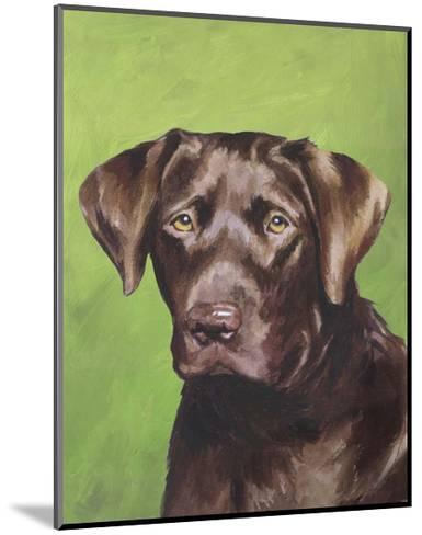 Dog Portrait, Chocolate-Jill Sands-Mounted Art Print