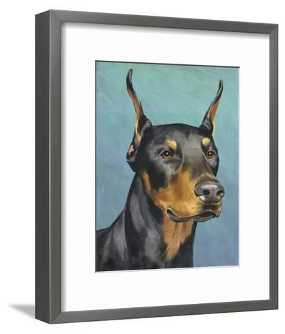 Dog Portrait, Dobie-Jill Sands-Framed Art Print