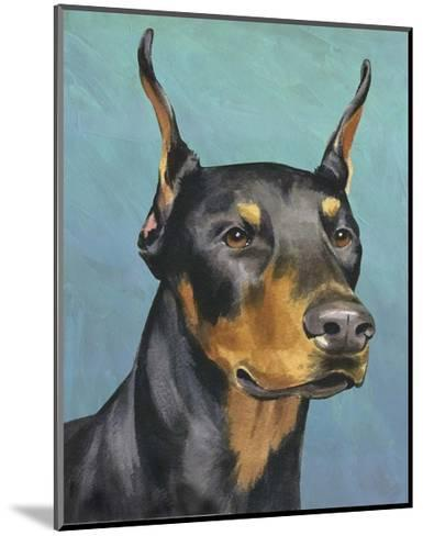 Dog Portrait, Dobie-Jill Sands-Mounted Art Print