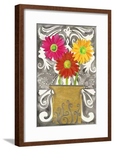 3 Tin Flowers-Kaeli Smith-Framed Art Print